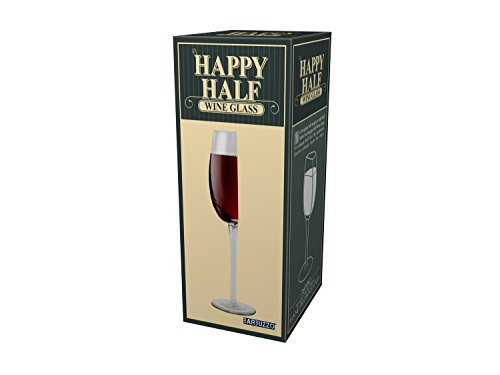 Barbuzzo Happy Half Wine Glass, - Half Full Glass