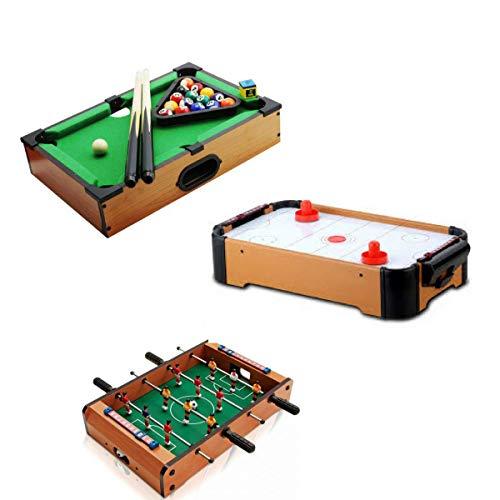 Kit 3 jogos mine mesa sinuca hokey de mesa mes E pimboliN toto