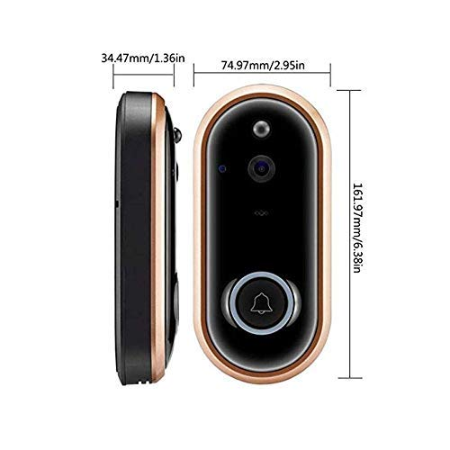MOUNTDOG WiFi Smart Video Doorbell Camera Door Bell 1080P HD Wireless Home Security Doorbell Camera with 16GB Storage Card 2 Rechargeable Battery for iOS Android Google (M6-1080P)