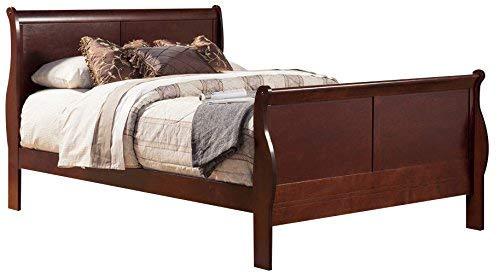 Alpine Furniture 2700Q Louis Philippe II Sleigh Bed, Queen ()