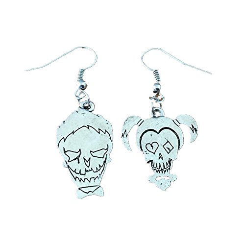 Outlander DC Joker & Harley Quinn Faces Earring Dangles In Gift Box From]()