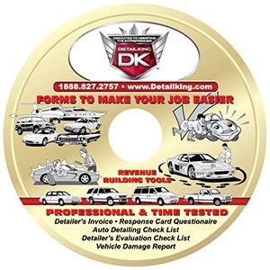 Detail King Detailers Forms, Checklists, & Invoice CD-ROM