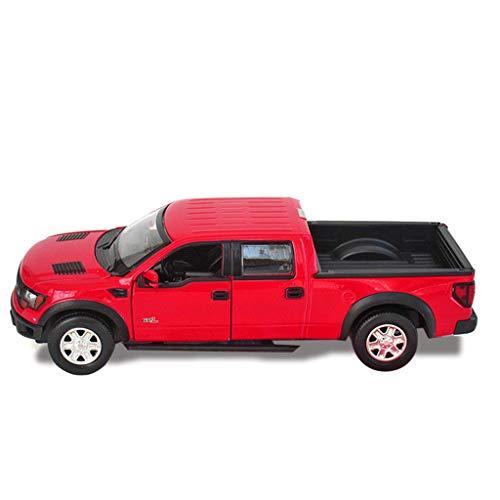PENGJIE-Model Children's Ford Pickup Truck Car Model F150 Simulation Car Model 1:32 Car Alloy Toy Car (Color : Red)