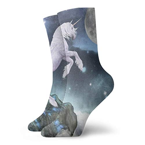 Crew Socks Fantasy Horse Under Moon Custom Personalized Womens Short Boot Stocking Decor Sock Clearance for Teens (Custom Hunting Boots)