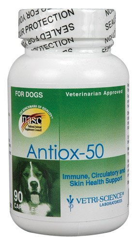 Vetri-Science Laboratories Antiox 50 Supplement for Pets, 90 Count, My Pet Supplies