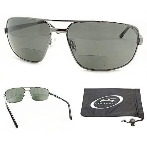 988ad92135 80%OFF Square Aviator Polarized Bifocal Sunglasses for Men. - demo ...