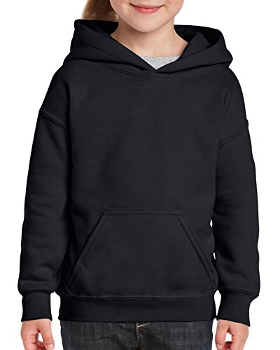 Gildan Kids' Big Hooded Youth Sweatshirt, Black, X-Large (Color Team Hoody Sweatshirt)