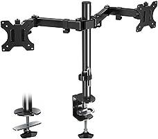 Eono Essentials Monitor Halterung für 2 Monitore, Monitorhalterung Vollbeweglich, Monitor Arm Tischhalterung für...