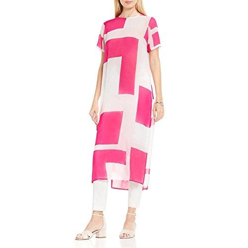 Vince Camuto Womens Chiffon Sheer Tunic Top Pink (Vince Sheer)