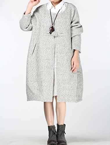 MatchLife - Abrigo - para mujer Style1-White