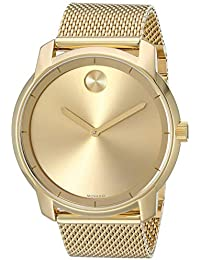 Men's Swiss-Quartz Watch with Gold-Plated-Stainless-Steel Strap, 22 (Model: 3600373)