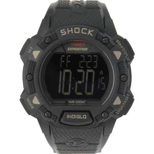 Timex Expedition Shock Chrono Alarm Timer Watch for Men - Model T49896 ()