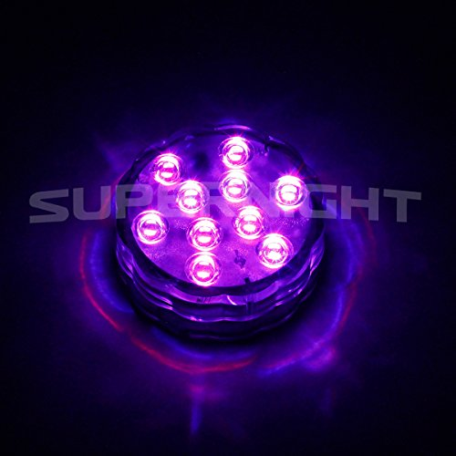 binzet ir remote controlled rgb submersible led lights aa. Black Bedroom Furniture Sets. Home Design Ideas