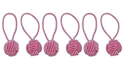 HiyaHiya Yarn Ball Stitch Markers PINK (6 pack)