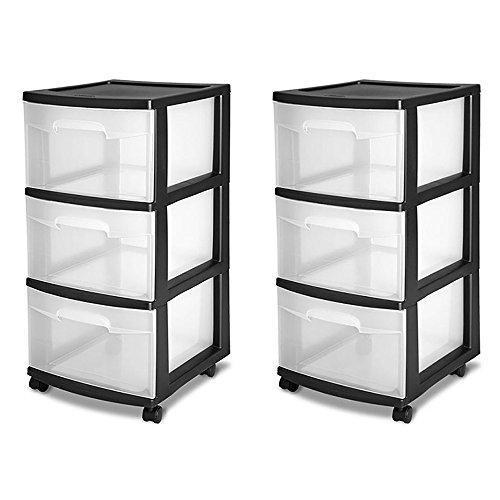 Sterilite Drawer Storage Plastic Black