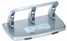 CARL 63040 40-Sheet capacity hc-340 heavy-duty 3-hole steel punch, 9/32 dia., silver