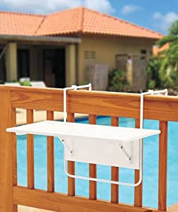 Folding Deck, Railing, Balcony, Patio Table U2013 Assembled 95%! Holds Up To 50  Pounds.