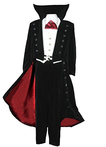 Costume Dracula Van Helsing (Men's Deluxe Count Dracula Vampire Theatrical Quality Costume,)