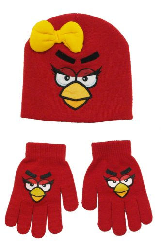 Angry Birds Toddler Beanie Gloves