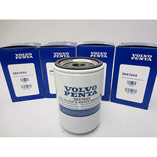 Volvo Penta Stern Drive New OEM Water Separating Fuel Filter 3847644 FOUR PACK