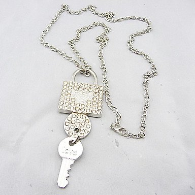SuSy News Fashion Joker Lock&Kye Necklace Fit Lover`s Best Gift, Fashion Pendant