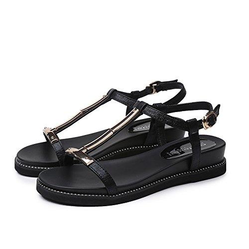 sorella donne spiaggia femminili Sandali estate per pistoni femminili le da delle estivi ragazze della molli signore scarpe XW piana di molli coreana con di J a Oro le forma qFIFxH7wr