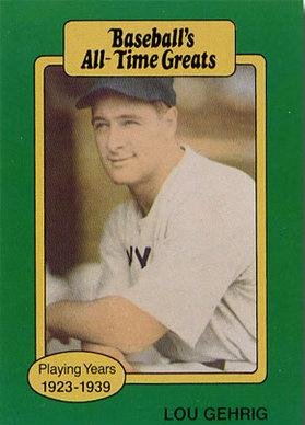 Amazoncom 1987 Hygrade All Time Greats Lou Gehrig Baseball