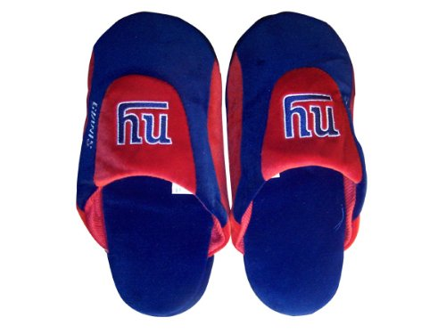 Happy Feet Comfy Feet - Officially Licensed Mens and Womens NFL Low Pro Slippers New York Giants Low Pro r5OXR