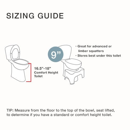 Squatty Potty The Original Adjustable Height Bathroom Toilet Stool- Tao Bamboo by Squatty Potty (Image #7)