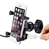 New Bike Accessories, Afus 1Pcs Rechargeable Phone Mount Bike Handlebars, Aluminum Alloy Adjustable - Fits GPS - Anti-slip Mats - Durable for Outdoor MTB Cycling(Suitable for 3-6.5inch)