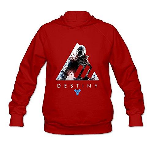 [AOPO Destiny Women's Long Sleeve Hooded Sweatshirt / Hoodie XX-Large Red] (Xbox Costume Quest)