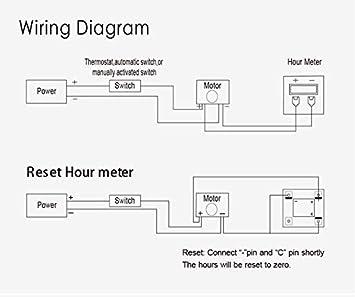 hour meter wiring diagram amazon com jayron jr hm008dc diamond lcd hour meter dc4 5v 90v 5v hour meter wiring diagram diamond lcd hour meter dc4 5v 90v 5v