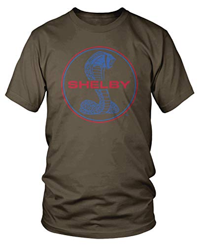 - Amdesco Men's Shelby Cobra Emblem T-Shirt, Dark Chocolate XL