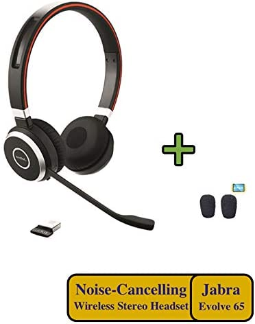 Amazon Com Jabra Evolve 65 Bluetooth Uc Duo Nfc Headphones Bundle Compatible With Teams Dragon Nuance Windows Pc Surface Mac Smartphone Mobile Streaming Music Ip Softphones 6599 829 409 C Computers Accessories