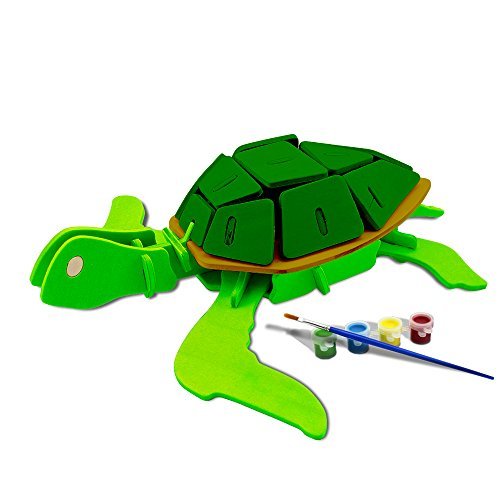 zzle Assemble and Paint DIY Toy Kit, Sea Turtle (Color Back Sea Turtle)
