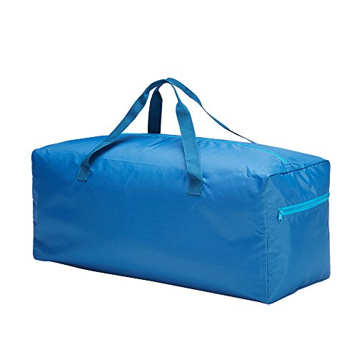 Foldable Duffle Bag 75L Lightweight with Water Rresistant (Blue)