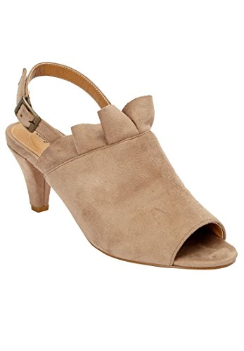 Catalogo Outlet Comfort Comfort Plus Taglia Shira Sandalo In Finta Pelle Scamosciata Beige