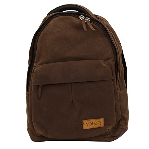 Rimo Casual Laptop Backpack for Men & Women college girls boys fits 17 inch Canvas & Vegan Leather 20 Ltr Top Selling Travel backpack Office Outdoor Weekends Airline carry-on ()