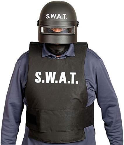 Casco de policía S.W.A.T para Hombre / Negro / Casco de Comando de ...