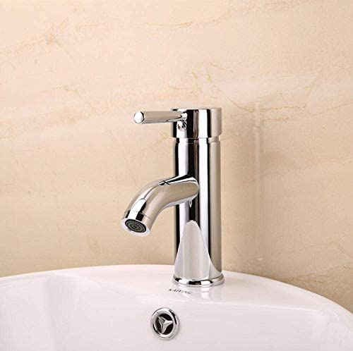 CHENBIN-BB バスルームシンクは、バルブシングルハンドル温度コントロールスイッチをミキシングスロット付き浴室の洗面台のシンクホットコールドタップ洗面台温水と冷水の蛇口セラミック洗面台ガラス洗面単穴をタップ