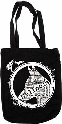 My-tagshirt - Organic Fashion Bag Malinois - - 100% - Nero - Commercio equo e solidale Bio