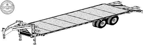 25 'x 102'' Gooseneck Flat Deck Trailer Plans BLueprints, Model 5225 by Master Plan & Design