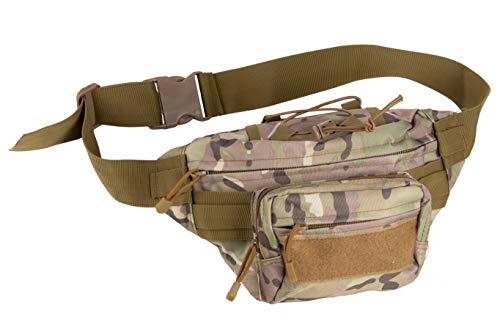 Juvale Men's Tactical Military Style Camouflage Molle Fanny Pack, Fits Waist Size 25.5-51 Inches