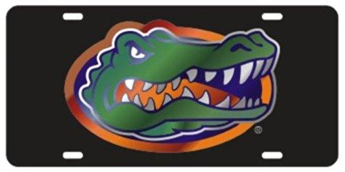 Gator Head Mirror - Florida Gators Laser Cut Inlaid Black Mirror Plate w/Gator Head