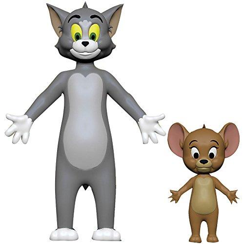 Tom And Jerry Set Of 2 Bendable Vinyl Figures MGM Hanna Barbera Cartoon