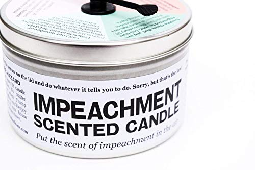 JD and Kate Industries Impeachment-Scented Candle | Hand-Poured in 16 oz tin | Peach and Mint Scent