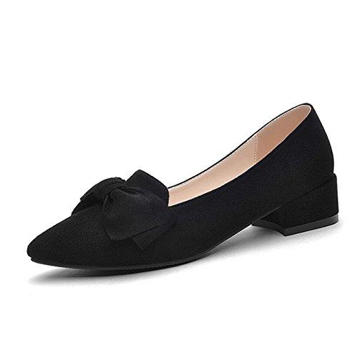 KHSKX Chaussures Femmes Faible Conseils Célibataires Spring 35 D'Une Cm Carrière La À Casual Les Avec De Noir Femmes 2 Papillon Chaussures Épaisseur 5 Style En New AfqrAO