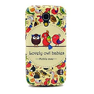 Cute Owls Pattern IMD Craft Hard Case for Samsung Galaxy S4