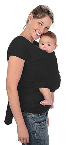 Fular elástico/Baby wrap (portabebés ergonómico), EL ÚNICO CON DOS TALLAS, rebozo para múltiples amarrados y posiciones, 100% algodón respirable con spandex, para bebés de 0 a 15kg, Talla G a XXG (5.5mts)