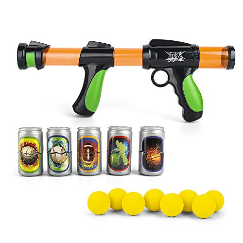 The Great Fun Foam Ball Shooter with Eight EVA Soft Foam Balls, Plastic Air Power Popper Shooting Toy Gun for Kids (Large)